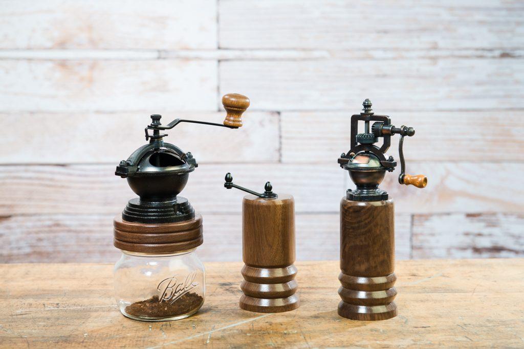 Pepper, Salt & Mason Jar Coffee Grinders.jpg