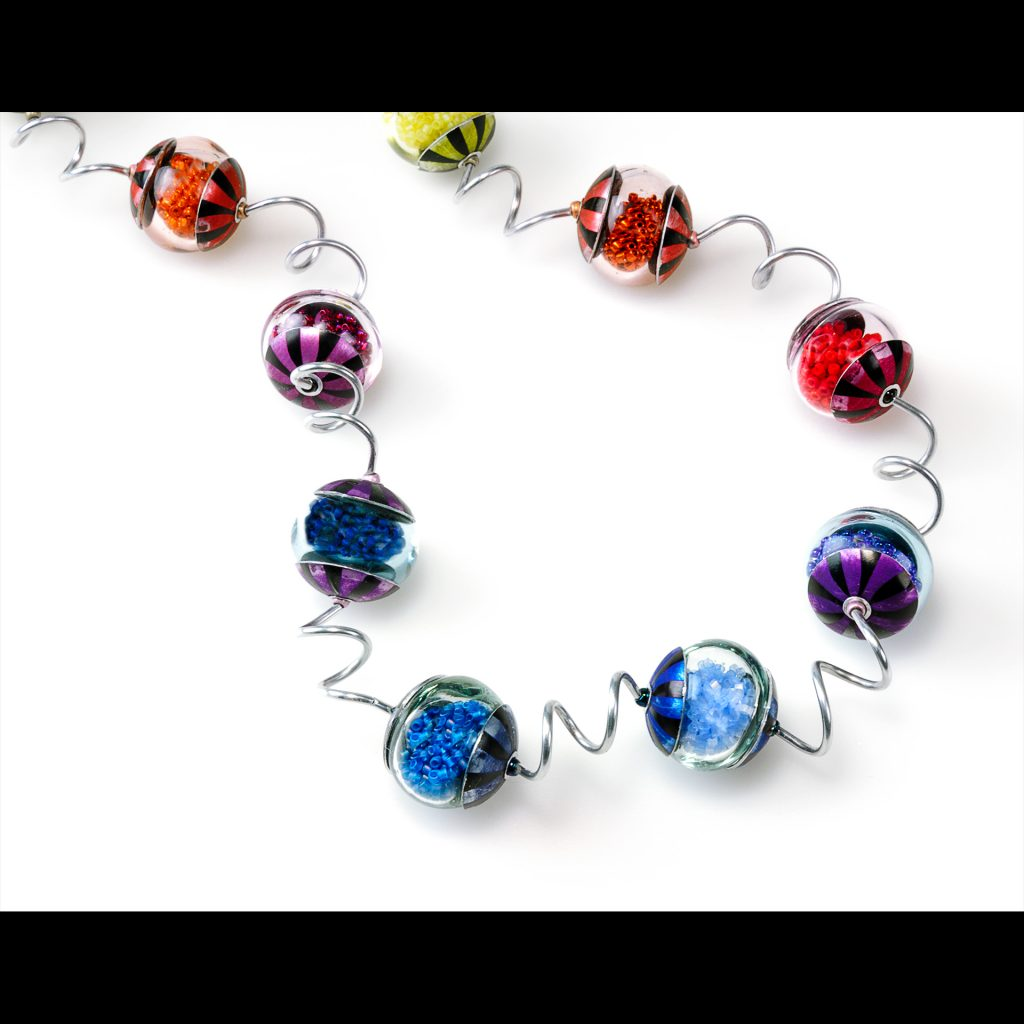 beadKRap Hollow Rainbow necklace with Noodles.jpg