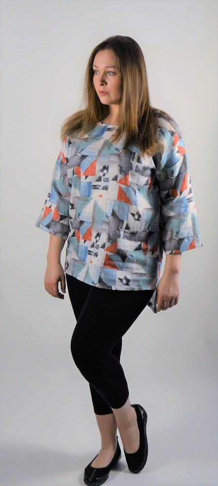 34 sleeve linen tunic print.jpg