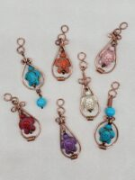 Copper wire Howlite Turtle small pendants.jpg