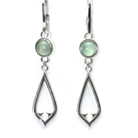 Chalcedony Architectural Earrings
