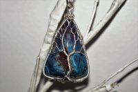 Blue Druzy Agate Stone Pendant