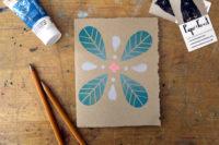 Floral Geometry Card