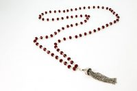 IMG_2341-Edit.jRed Coral necklace with Sterling Silver Tassel