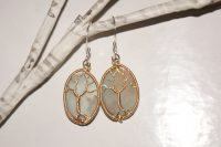 Gold and Black Amazonite Earrings
