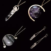 GERMINATE...Moon Phase Pendants .sterling silver, amyethyst & jasper .Lorien Pendant & Earrings. sterling silver &  quartz.jpg
