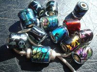 Custom Dichroic Glass Beads