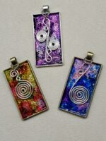 Painted Pendants with Silver coils.jpg