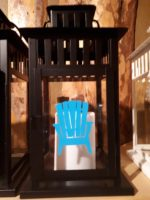 Blue Muskoka Chair Lantern