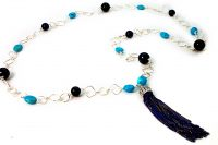 Turquoise & Blue Tiger Eye w\tassel